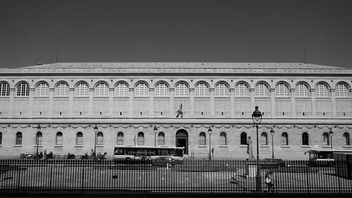 The Bibliothèque Sainte-Geneviève, Paris B&W