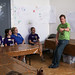 Small photo of Bill Robichaud talks to campers about Saola