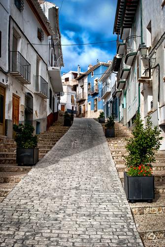 Calles con encato. La puebla de Don Fadrique. Granada