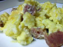Ham In Scrambled Eggs.