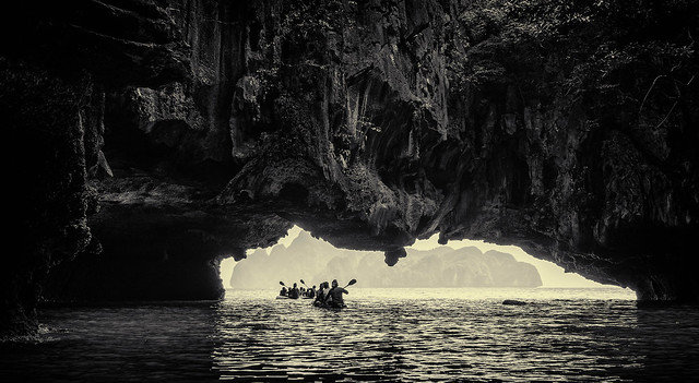 Canoeing through the caves2