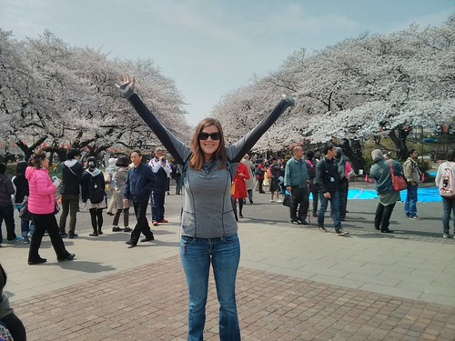 Casi at Ueno Park Cherry Blossoms