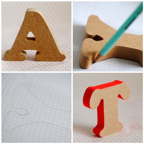 Decorating MDF letters