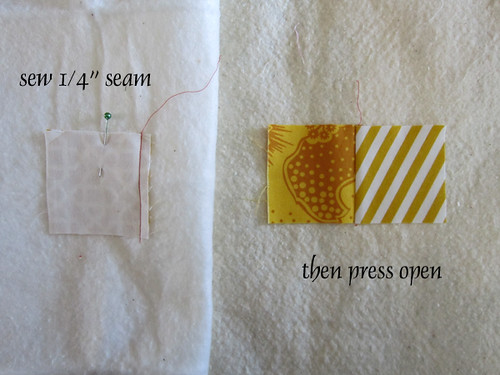 Quilt-As-You-Go Log Cabins tutorial — Stitched in Color