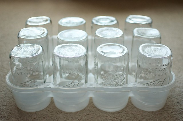 upside down jars in a JarBOX