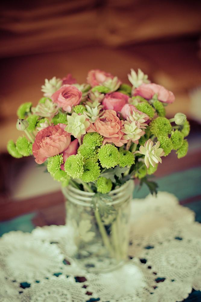 DIY bouquet de succulentes et fleurs