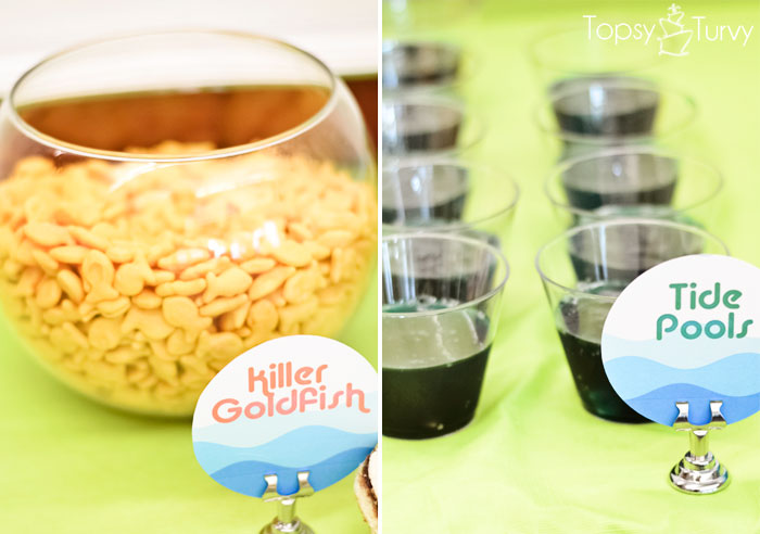 Easy Pool Party Food Ideas this one is like the pool party in my dreams the joys of home educating has the cutest idea for serving food at a pool party i might end up with a Pool Party Killer Goldfish Tide Jello