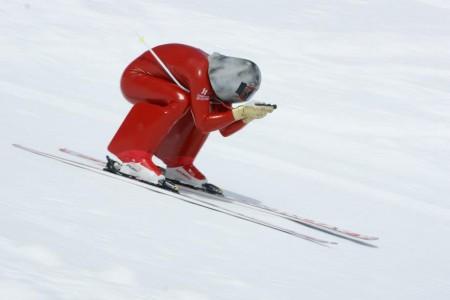 237,697 km/h - Radek Čermák vylepšil český rekord v rychlostním lyžování