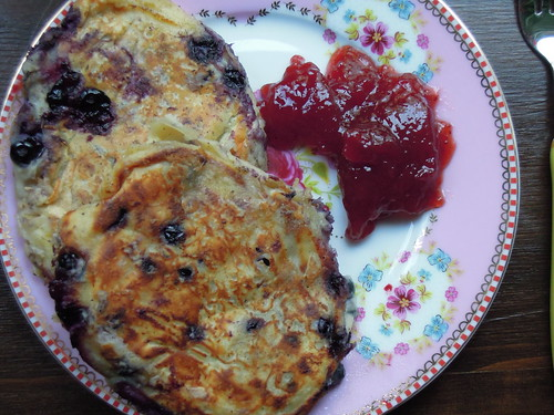 Blueberry pancakes, July