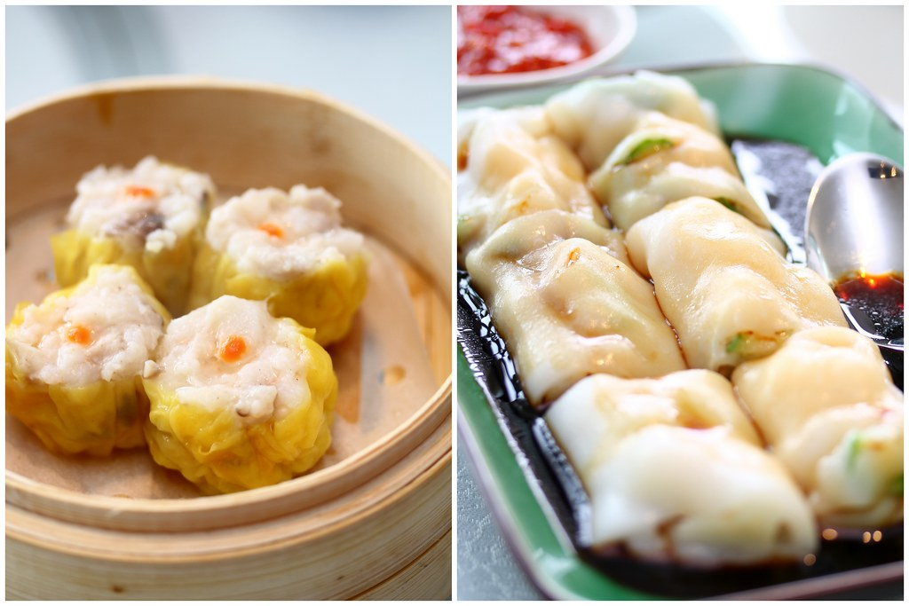 Majestic Bay Seafood Restaurant: Steamed Siew Mai Dumpling & Steamed Scallop Rice Rolls