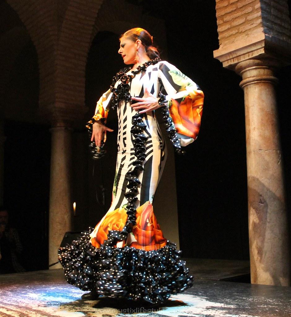traje flamenca seda