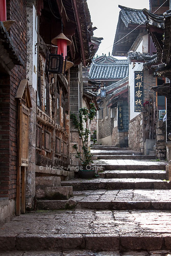 China, old town in Lijiang / Ruelle dans la vieille ville de Lijiang