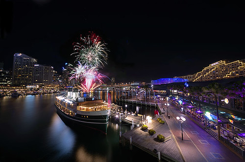 Fireworks over Darling Harbour. Image courtesy Nigel Howe.
