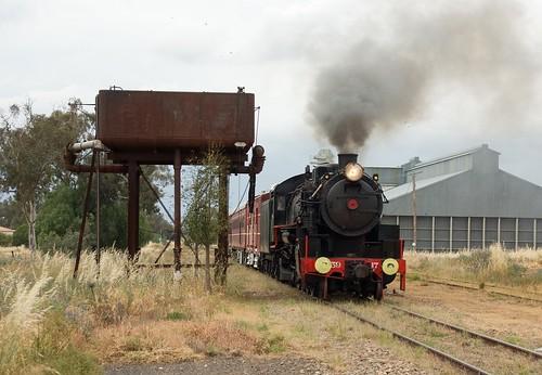 5917 runs through Koorawatha, Cowra Branch, NSW, 3rd November, 2007.