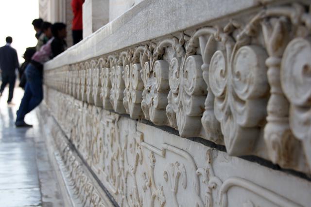 Marble carvings at the Taj Mahal
