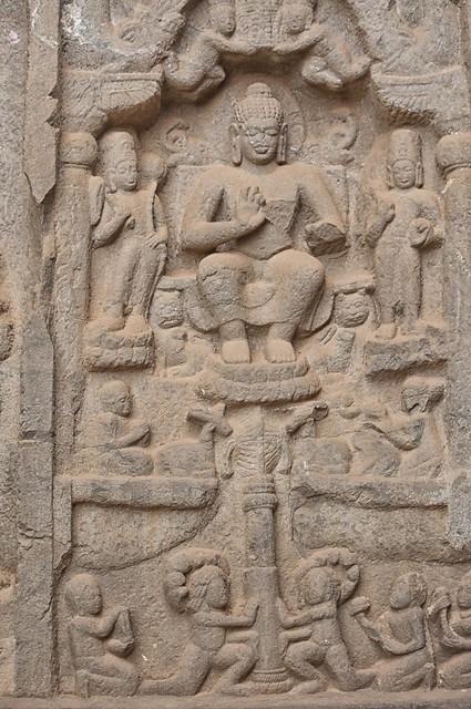 Buddha seated on Lotus - Karla Caves