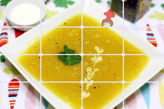 美式奶油瓜濃湯 Butter Squash Soup 2 (2)