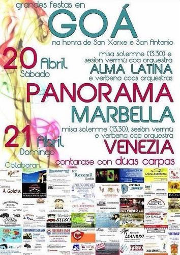Cospeito 2013 - Festas de San Xorxe e San Antonio en Goá - cartel