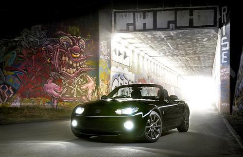 longexposure light lightpainting black green composite photoshop photography graffiti m1 tunnel automotive lane wakefield layers mazda mx5 mk3 pgd horbury pgdesigns philgrayston