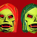 Red and Green Cowl Dr Dooms Halloween Mask 2265 by Brechtbug