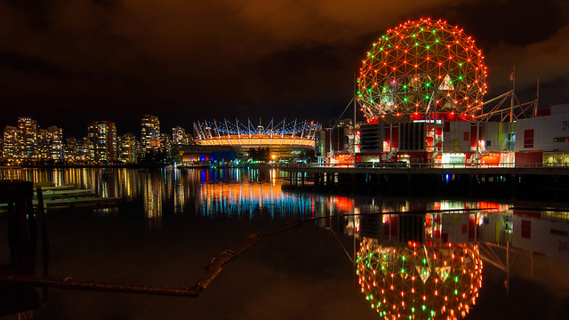 Science World at Halloween (from timelapse movie)
