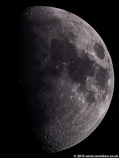Moon on the 19th April 2013