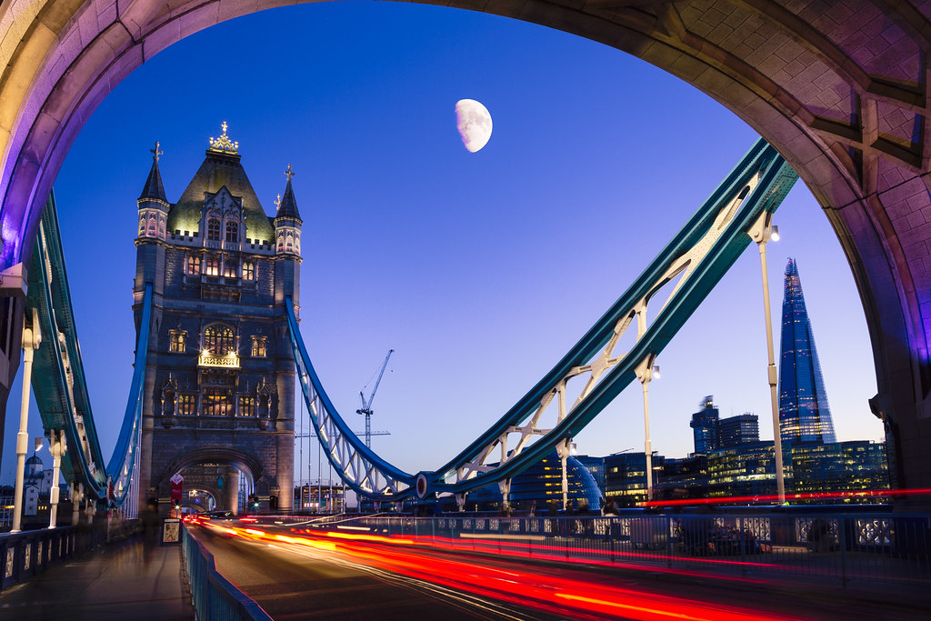 Tower Bridge and Moon