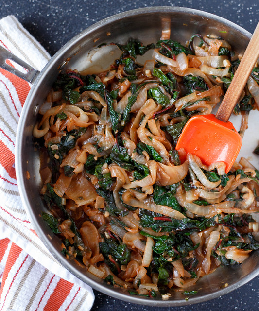 swiss chard and onion