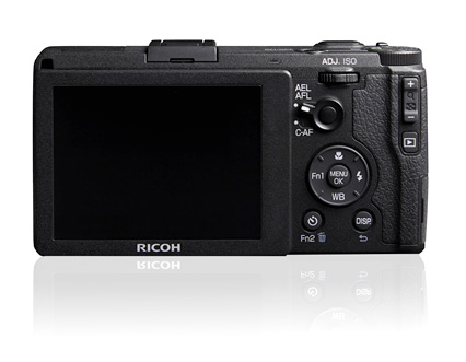 The back of the new Ricoh GR - they managed to squeeze in one more extra external control!