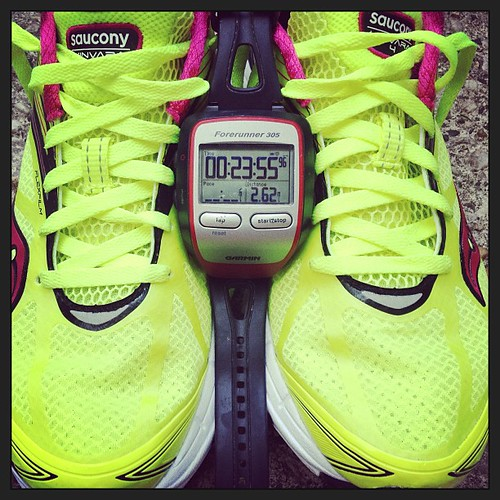 My @Saucony Kinvaras make me fast. #findyourstrong #latergram