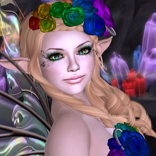 Crystal and Roses