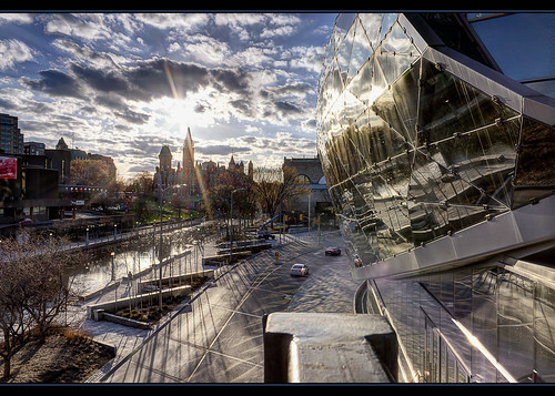 road city bridge sunset sun ontario canada color clouds canon reflections rebel canal downtown cityscape ottawa capital center convention hdr rideau sunnyday autofocus hdraward vigilantphotographersunite vpu2