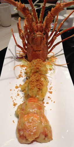 Deep Fried Spiny Lobster Salad