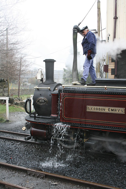 Taking water at Blaenau
