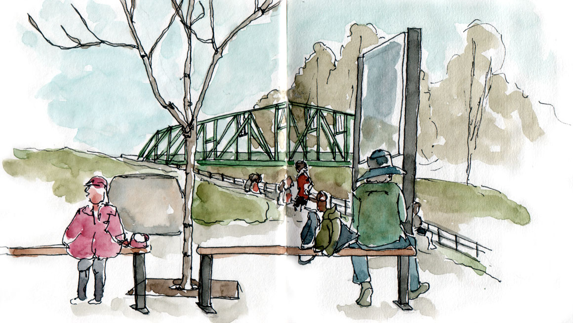 Canal Lachine - second morning sketch