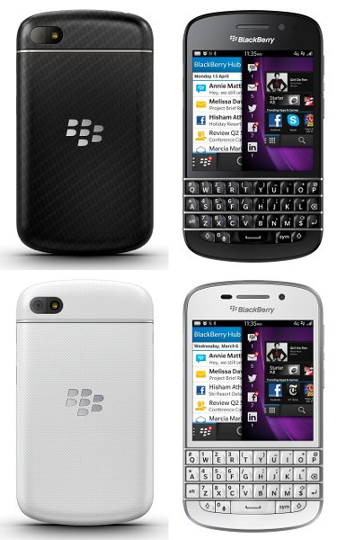 BlackBerry Q10 - black & white