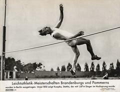 Leichtathletik Meisterschaft Brandenburg Pommern Berlin Koepke Stettin Hochsprung