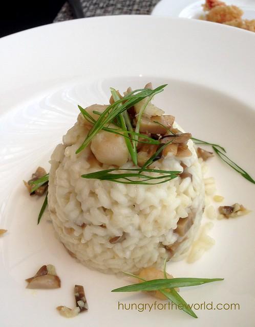 mushroom risotto. bland