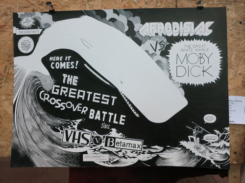 AAN2013 Afrodisiac vs. Moby Dick by Jim Rugg - Ink on paper