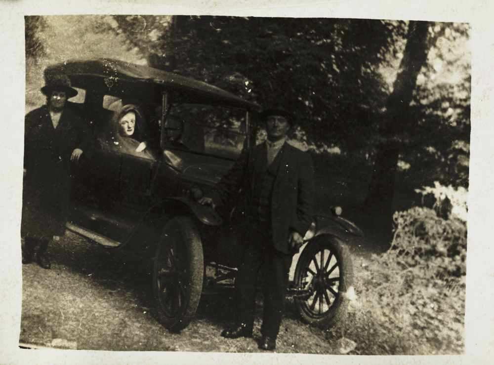 Couple with a spirit in their car