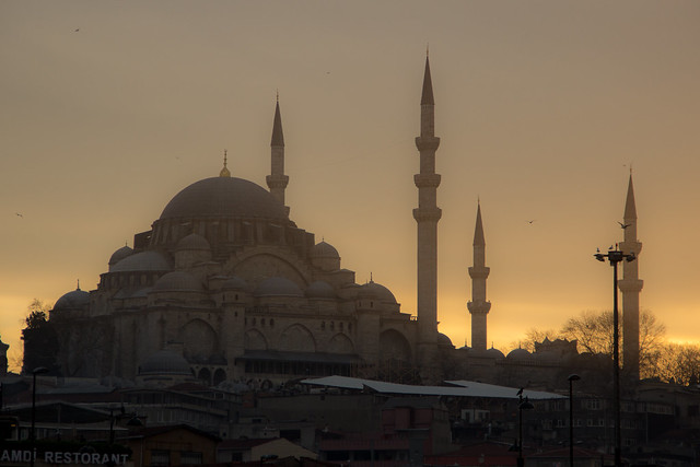 A Mosque at Sunset - Istanbul, Turkey