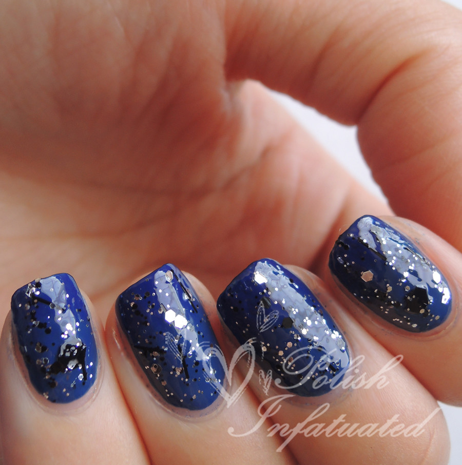 subtle blue gradient and glitter