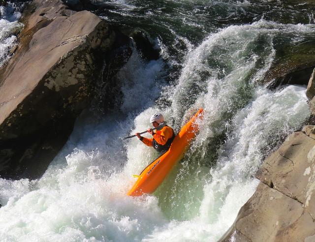 kayak waterfall