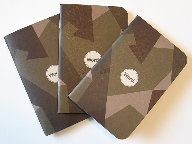 Word Lined Notebooks - Swedish Camo