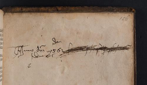 Manuscript inscription in Vocabularius ex quo [Latin and German]