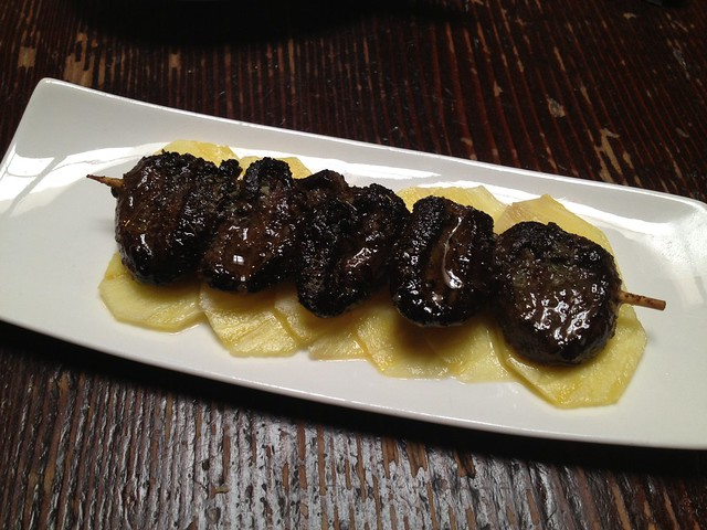 Jerk spiced duck hearts - The Alembic