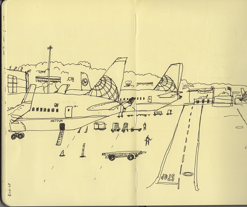 Sketch while waiting at SFO airport