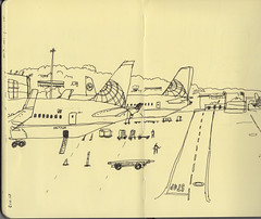 Waiting at SFO sketch