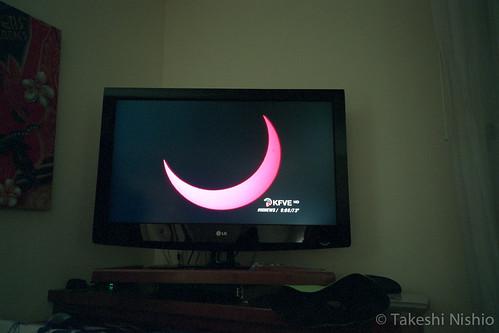 テレビニュース, 部分日食 / TV news, Partial Solar Eclipse