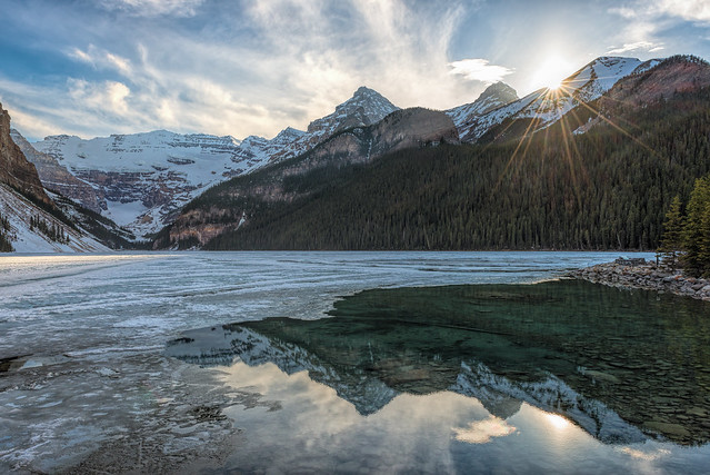 Lake Louise Sundown